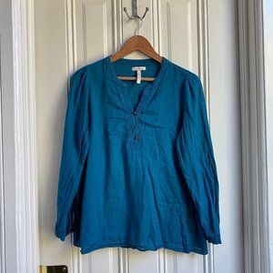 Old Navy Maternity Teal Long Sleeve Blouse